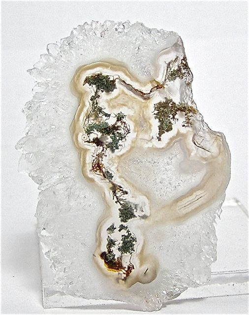 Solar Quartz Stalactite Moss Agate Center Large by
