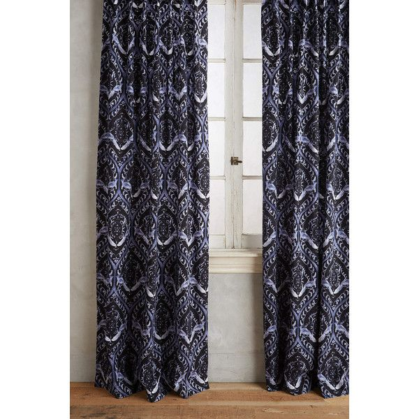 Anthropologie Tiled Crest Curtain ($60) ❤ Liked On Polyvore Featuring Home, Home  Decor