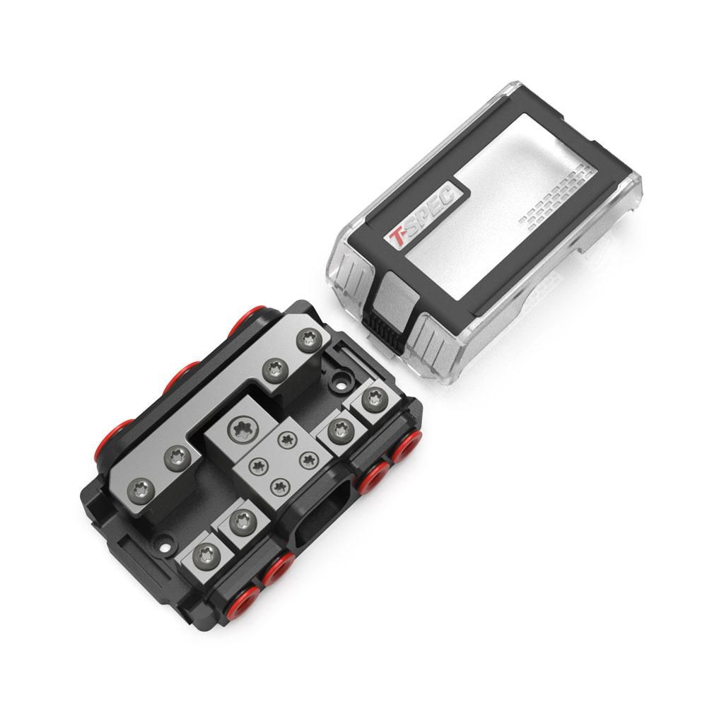 T-Spec VPNB4 MANL 4 Position All-In-One Distribution Block w…