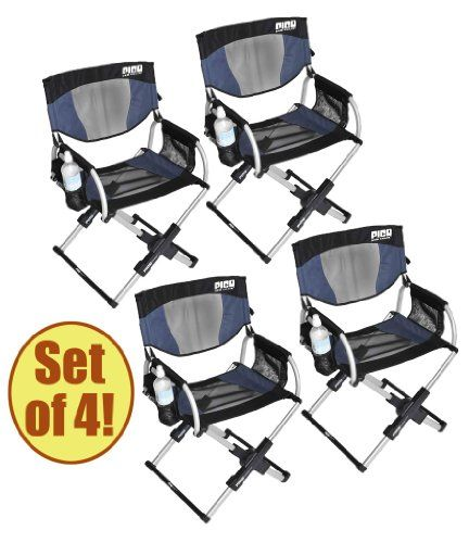 Set Of 4   PICO ARM CHAIR Telescoping Directoru0027s Chair ** Be Sure To Check  Out This Awesome Product.