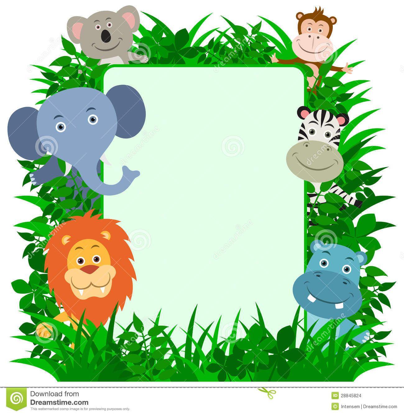 Jungle Animals Frame Stock Images Image 28845824 Jungle Animals Balloon Animals Baby Clip Art