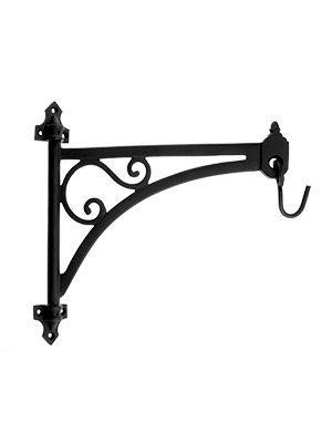 Cast Iron Swing Arm Plant Hanger In Natural Black Metal Plant