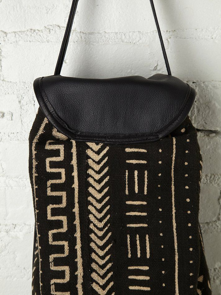 Osei Duro Out of Africa Bag at Free People Clothing Boutique - mud cloth bag - make a facsimile with African-style fabrics