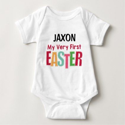 My very first easter personalized baby bodysuit baby gifts child my very first easter personalized baby bodysuit baby gifts child new born gift idea diy negle Gallery