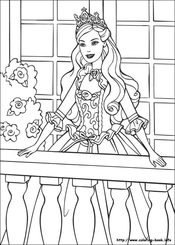 Barbie as the Princess and the Pauper coloring picture | Barbie ...