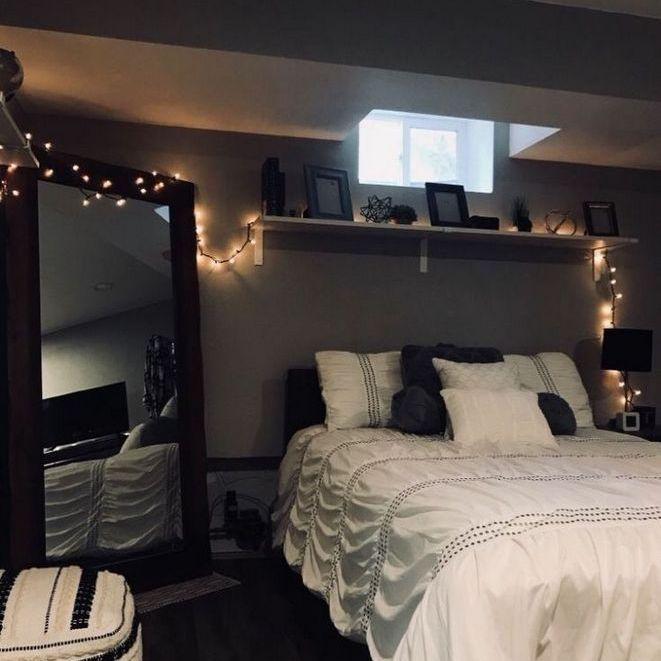Dark Grey Bedroom Aesthetic