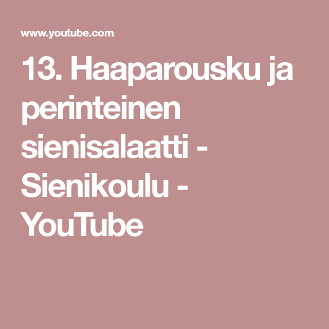 13. Haaparousku ja perinteinen sienisalaatti - Sienikoulu - YouTube