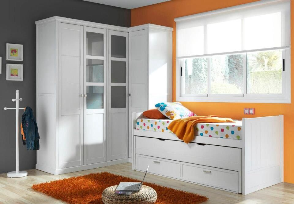 Rec mara individual blanca habitaci n para ni os pinterest muebles dormitorio muebles - Habitacion juvenil blanca ...