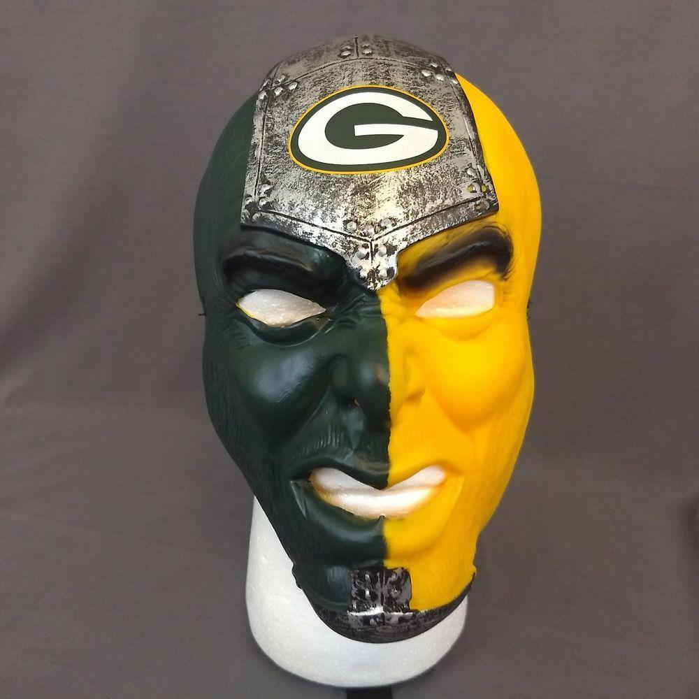 Nfl Green Bay Packers Fan Face Costume Mask Franklin Football Franklin Maskonly Fan Faces Green Bay Packers Fans Nfl Green Bay