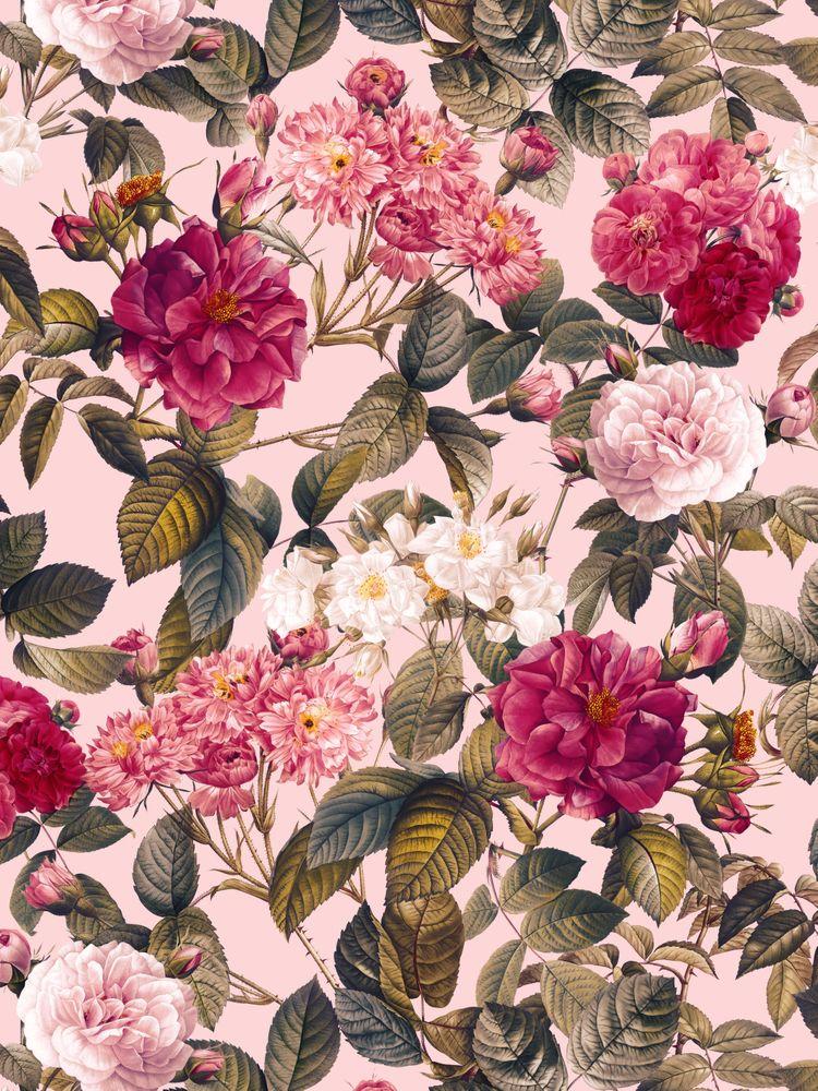 Rose Garden V Art Print by Burcu Korkmazyurek