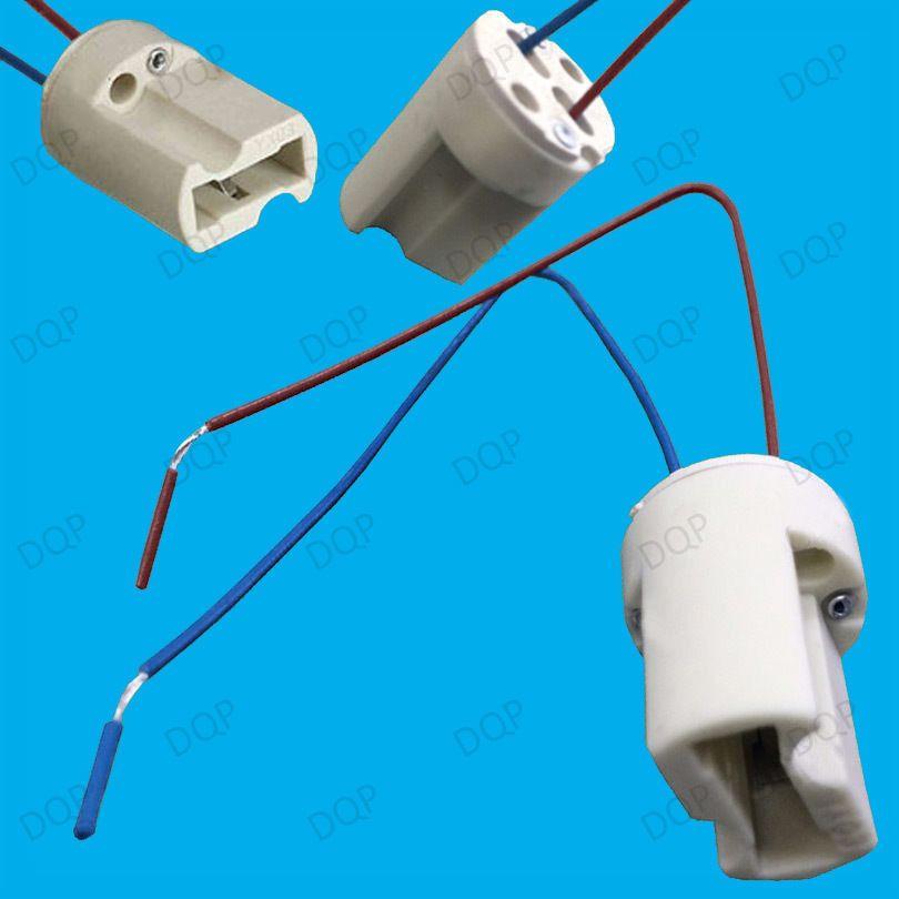 G9 Ceramic Lamp Holder Socket Down Light Cable Halogen LED Bulb