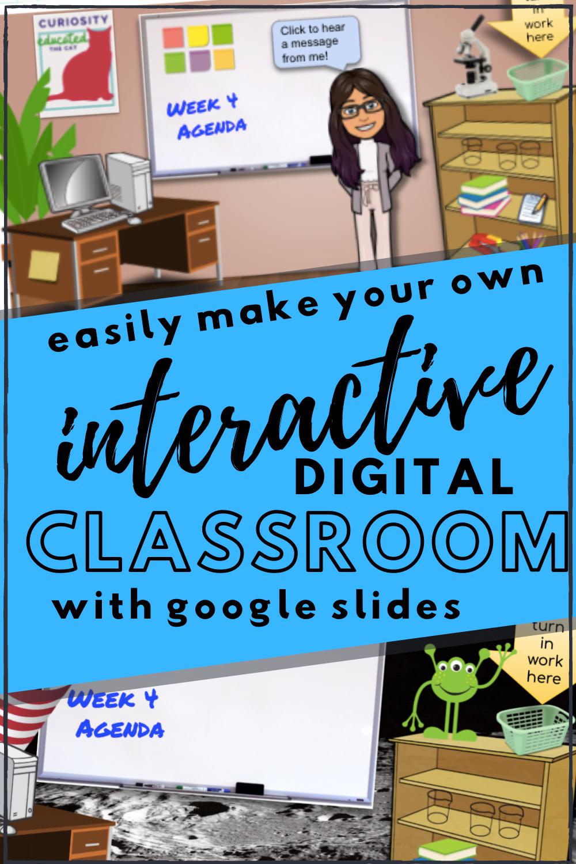 Make A Bitmoji Virtual Classroom With Google Slides Teach Every Day Interactive Classroom Digital Classroom Digital Learning Classroom