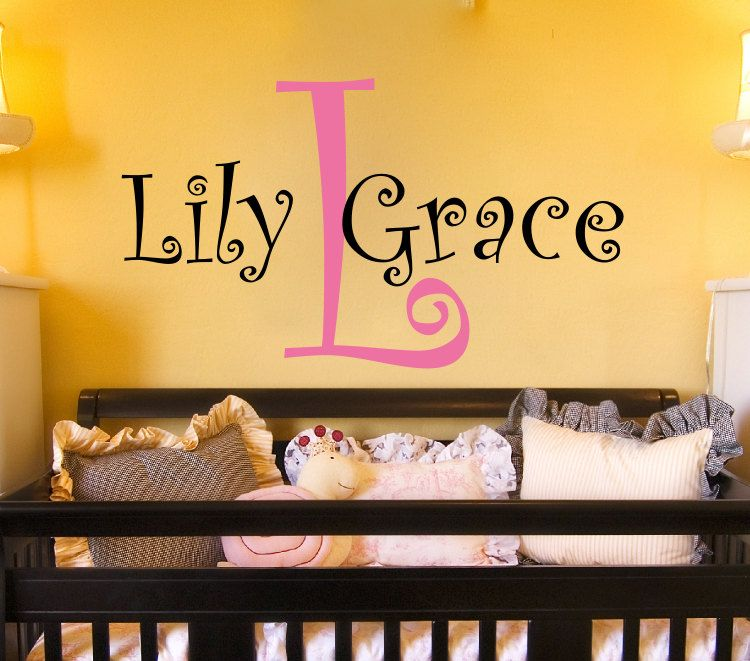 Neat idea for decorating the nursery. They\'ll never forget their ...