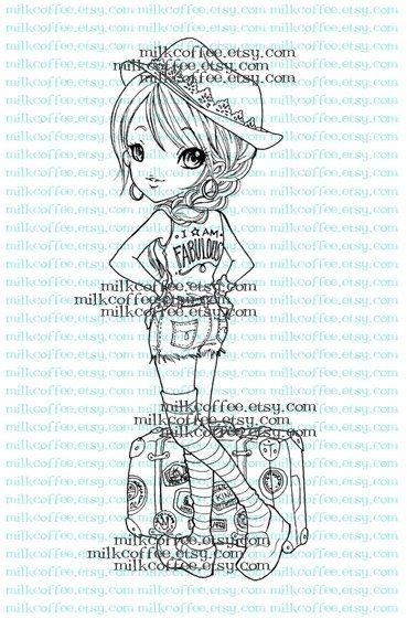 Digital Stamp Travelling Madeline by MilkCoffee on Etsy, $3.00 ...