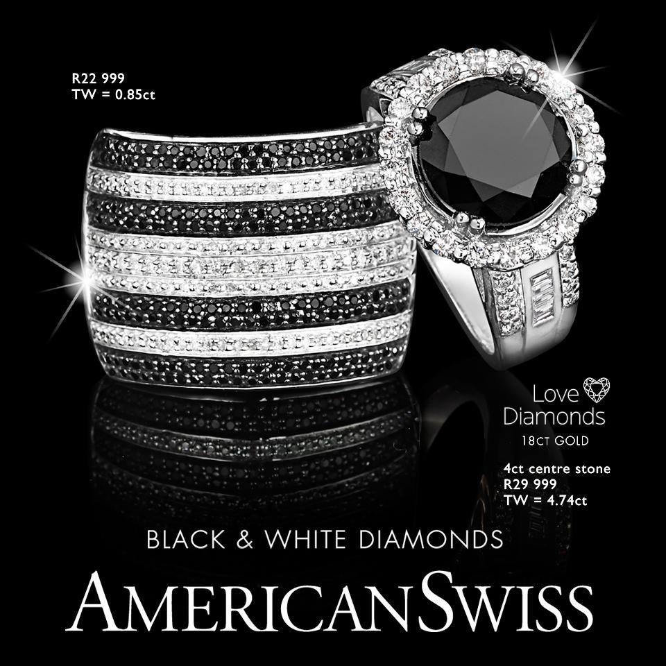 American Swiss On In 2020 Rings For Men Rings Black Diamond