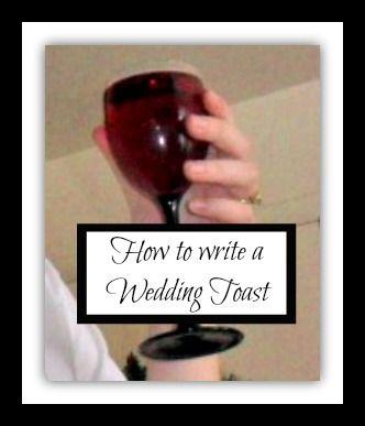 Domestic randomness how to write a wedding toast wedding matron domestic randomness how to write a wedding toast junglespirit Images