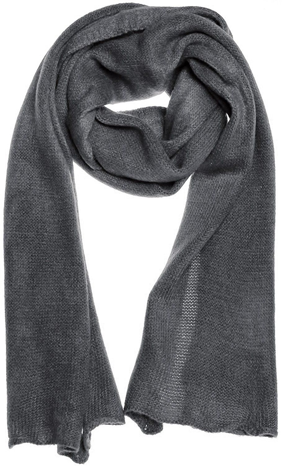 Pashmina Silk Scarf Man Woman Solid Colour Basic Grey