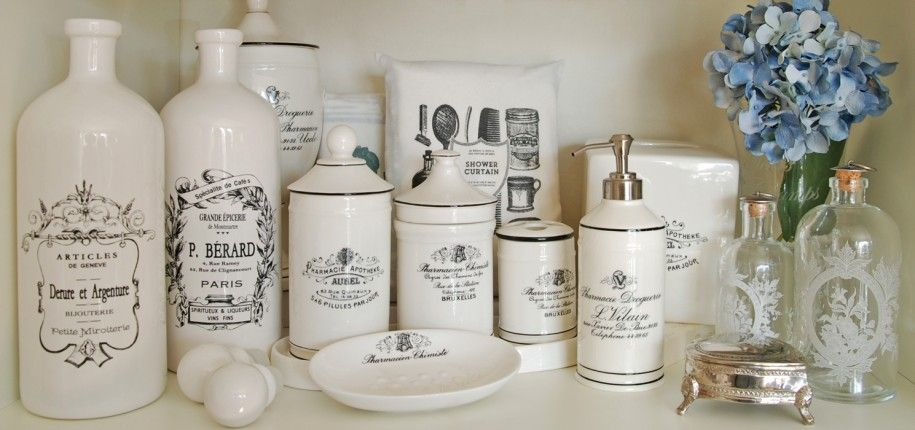 Amazing WHAT YOU NEED TO KNOW ABOUT APOTHESCARY BATH ACCESSORIES : Lovely White  Vintage Porcelain Apothecary Bath Accessories With Luxury Design As ..