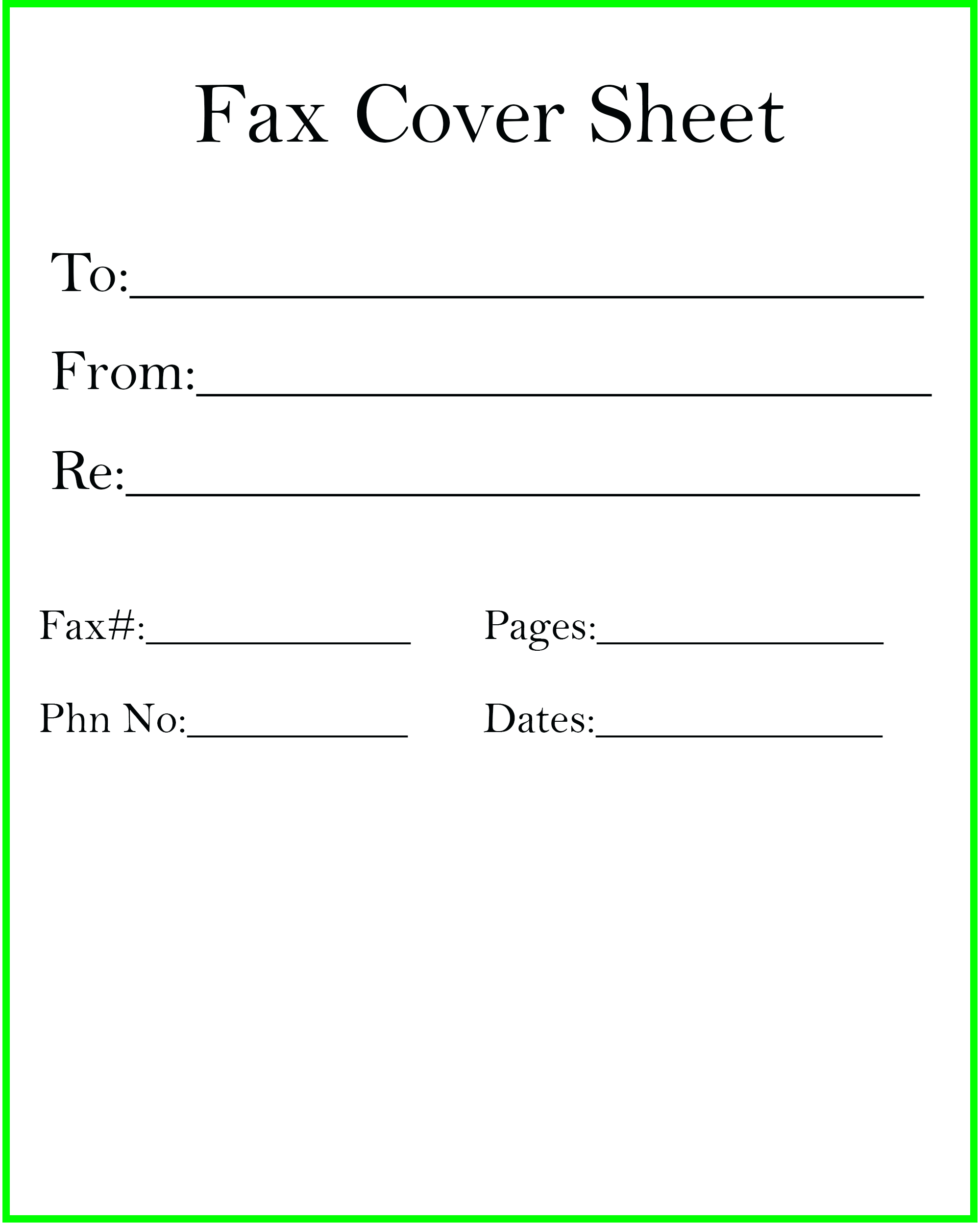 New How to Fill Out A Fax Cover Sheet in 2020 Cover