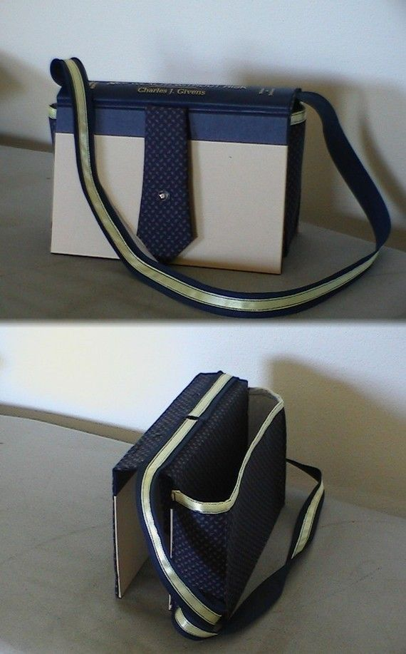 Pattern to make a BOOK into a PURSE