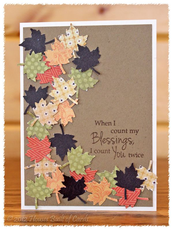 Ideas For Thanksgiving Cards To Make Part - 25: When I Count My Blessings, I Count You Twice - This Would Be A Great Card  To Send To Our Sponsored Kids! Good Idea As A Theme For A Letter For My ...