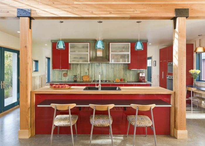 moderne küchen rot und holz kombinieren Farben u2013 neue Trends und - küche holz modern
