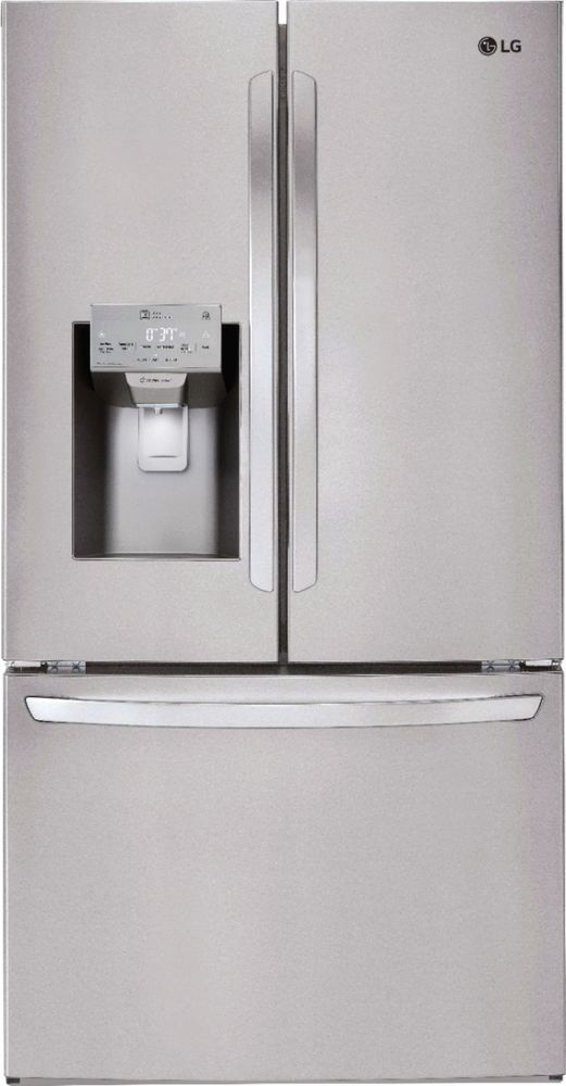Lg 26 2 Cu Ft French Door Smart Wi Fi Enabled Refrigerator With Duel Ice Maker Printproof Stainless Steel In 2020 French Door Refrigerator French Doors Stainless Steel Refrigerator