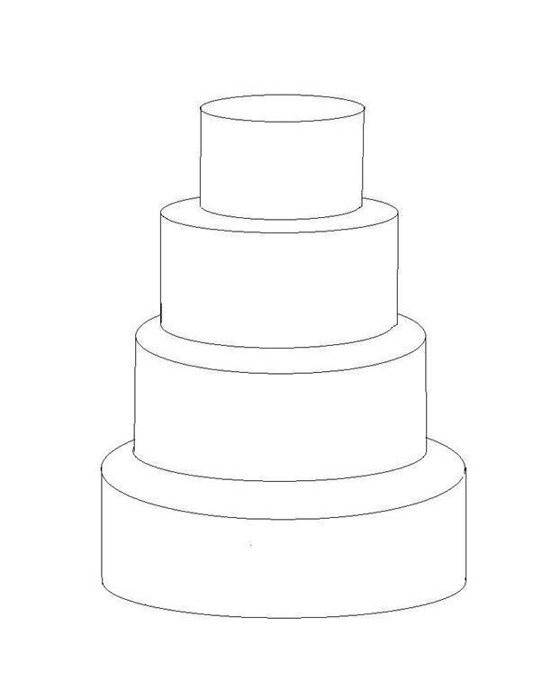 Four Tier Cake Template