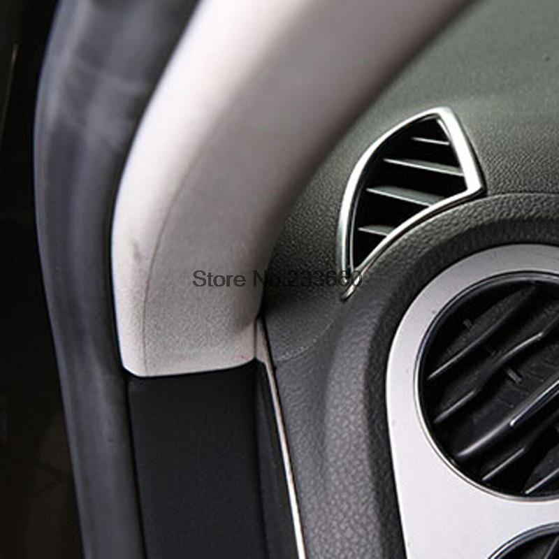 for vw tiguan 2012 2013 2014 2015 abs matte car auto accessories air conditioning vent trim. Black Bedroom Furniture Sets. Home Design Ideas