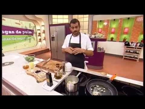 Receta: pechugas de pollo rellenas de espinacas - YouTube