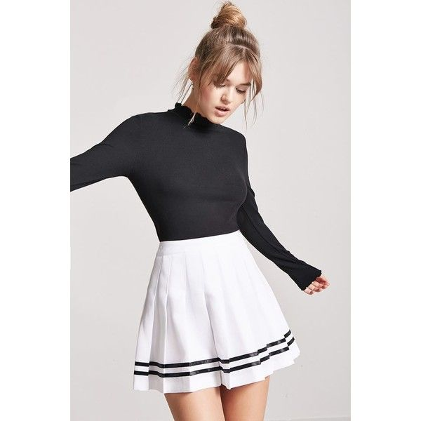 2882b53e52 Forever21 Box Pleated Tennis Skirt ($16) ❤ liked on Polyvore featuring  skirts, mini skirts, forever 21 mini skirt, forever 21 skirts, full length  skirt and ...