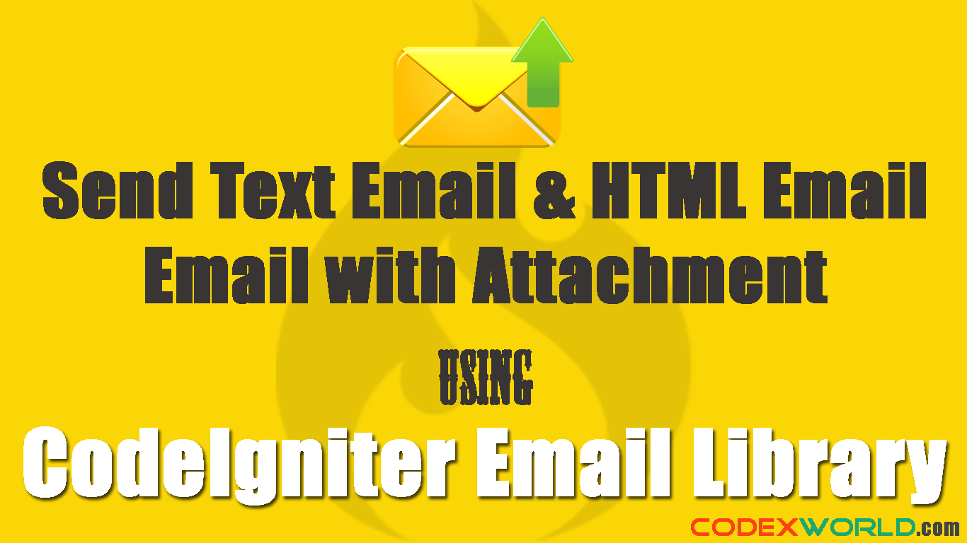 Sending Email in CodeIgniter | CodeIgniter | Web development