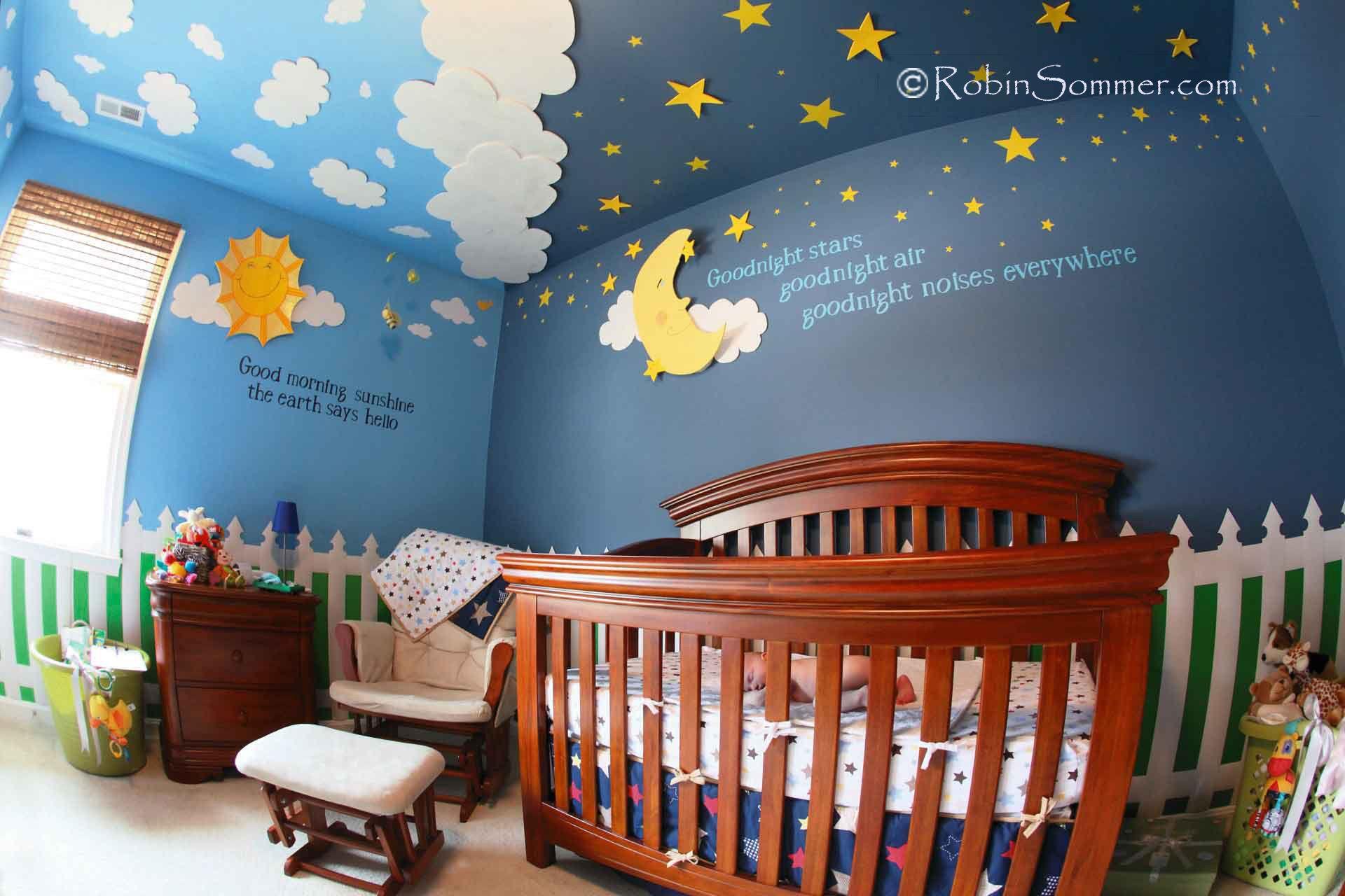 Sun And Moon Nursery Nursery Baby Room Moon Nursery Star Nursery
