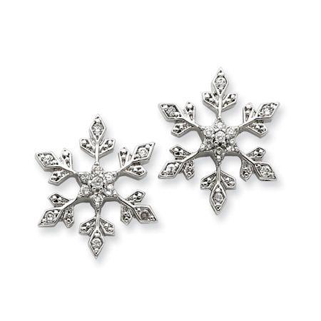 Glistening Winter Guy Set of 3 Snowflake Crystal