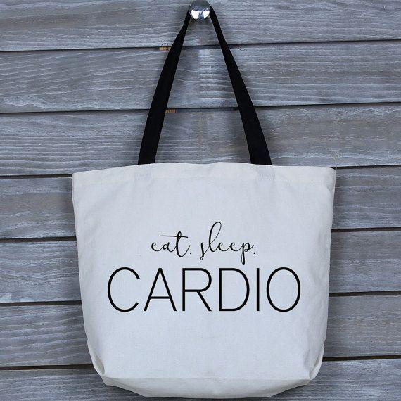cbeedccb1445d7 Canvas Tote, Canvas Tote Bag, Wide Tote Bag, Gym Bag, Canvas Bag, Fitness  Tote, Gym Tote - Eat Sleep Cardio Canvas Wide Tote Bag