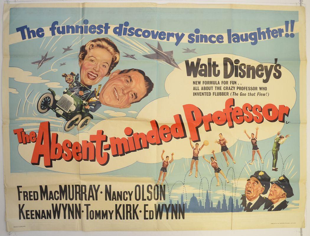 THE ABSENT MINDED PROFESSOR Cinema Quad Movie Poster | Disney ...