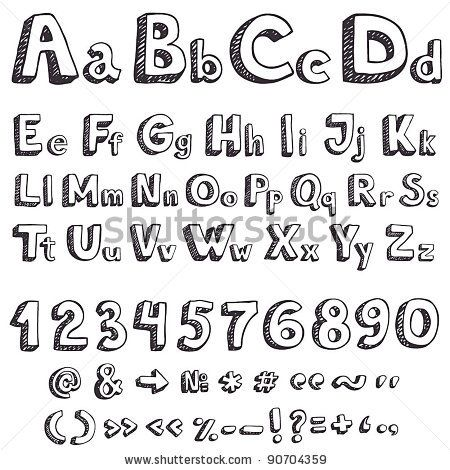 Printables Drawing Letters drawing letters gtgo black watercolor