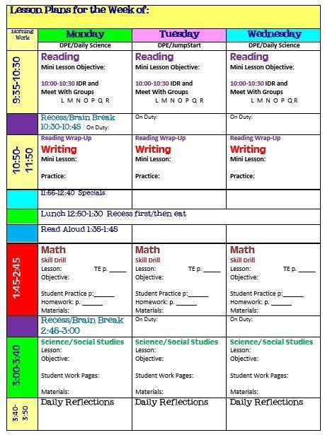 Free Lesson Plan Template Lesson Plans Pinterest Lesson Plan
