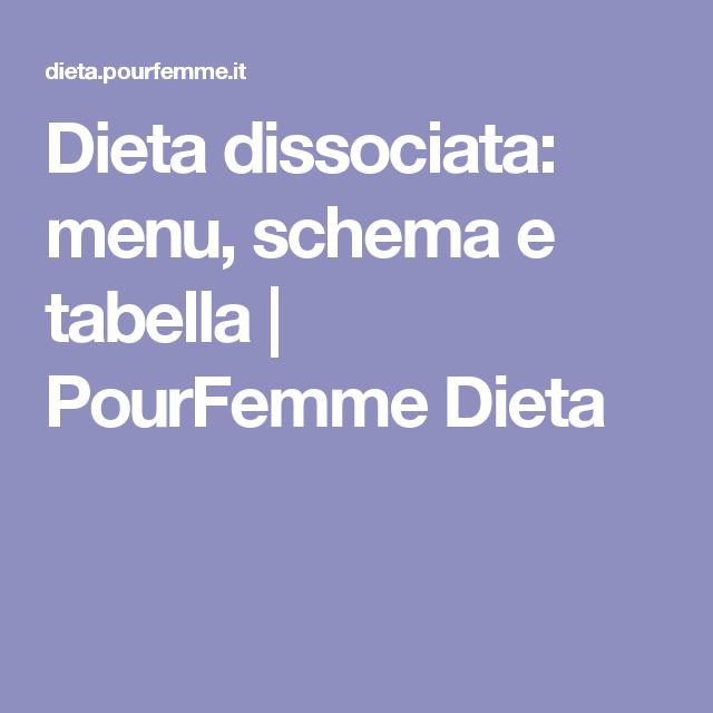 la migliore dieta dissociata per perdere peso