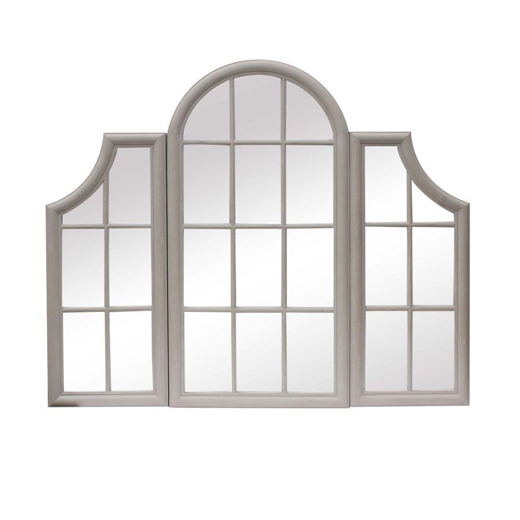 Ventana Aged Stone Grey Triple Window Frame Mirror Furniture La Maison Chic Luxury Interiors In 2020 Window Frame Mirror Window Frame Mirror Wall