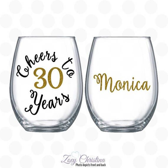 Cheers To 30 Years 30th Birthday Gift For Women Old Turning W