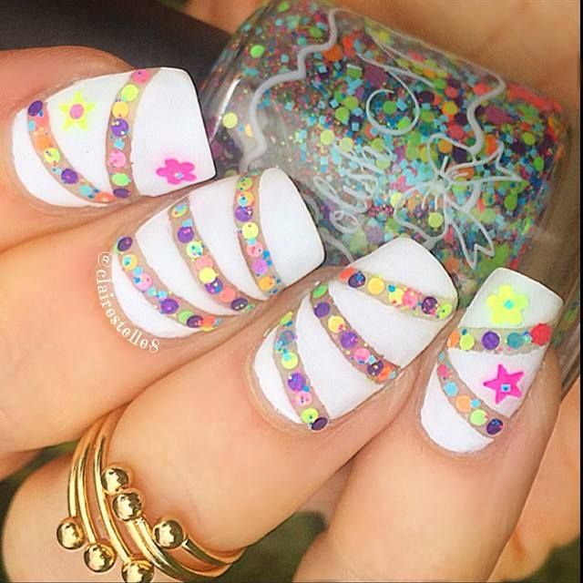 Lush Simple But Amazing Nails For Me Pinterest Bright Nail