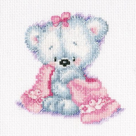 RTO-Counted Cross Stitch Kit. This kit will allow you to create a beautiful baby design that will make a great decoration for any room of the house once you have completed it. This package contains 10