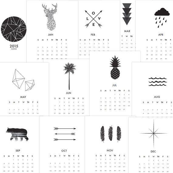 2017 Wall Calendar, Printable Calendar, 2016 2017