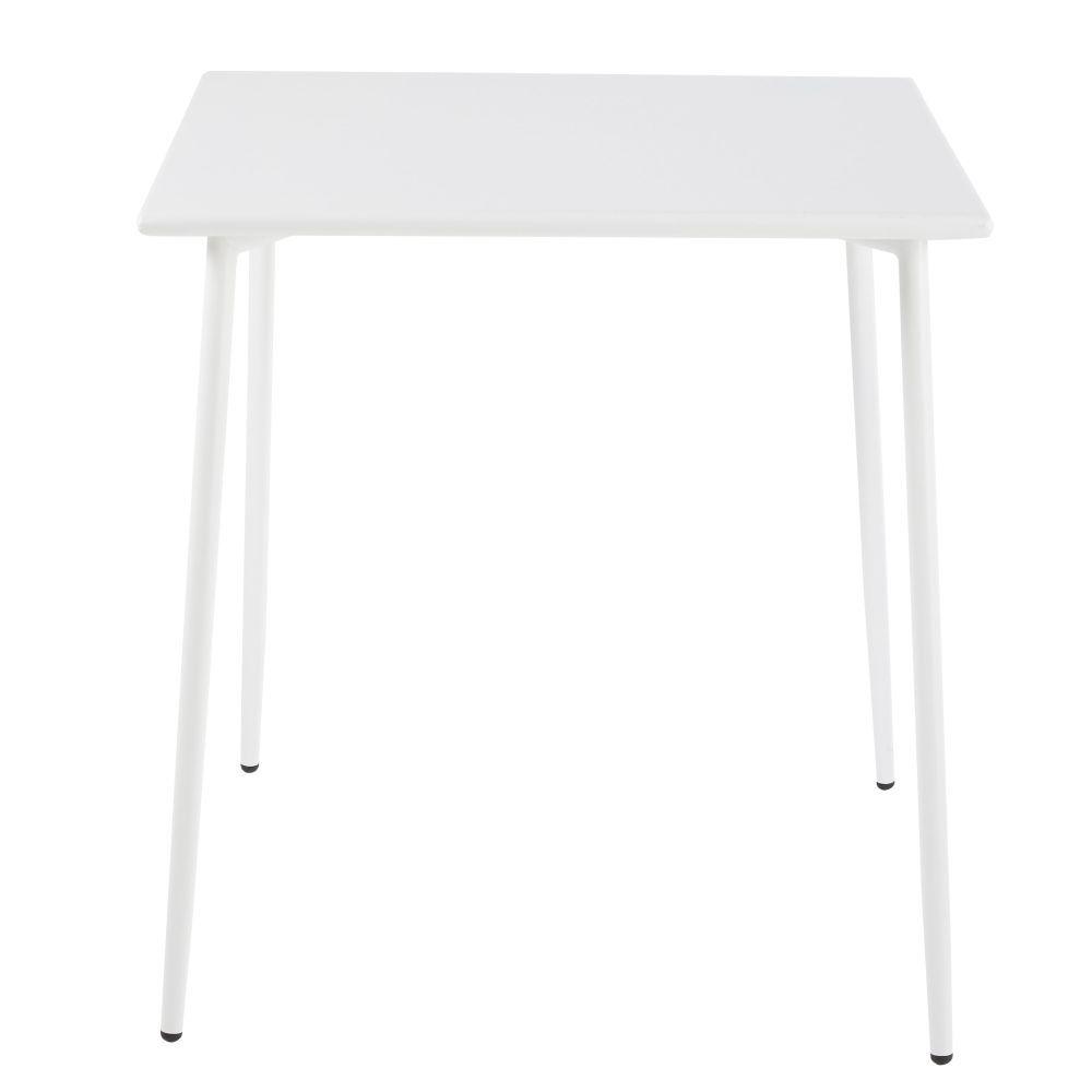 Table de jardin carrée en métal blanc 4 personnes L70 in 2019 ...