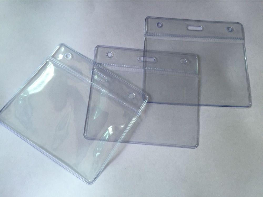 2016 New Arrival 3pcs Horizontal Transparent Plastic Clear ID Card ...