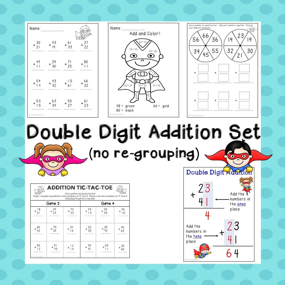 Double Digit Addition Without Regrouping Practice Double Digit Addition Free Math Lessons Fun Math Adding double digit without regrouping