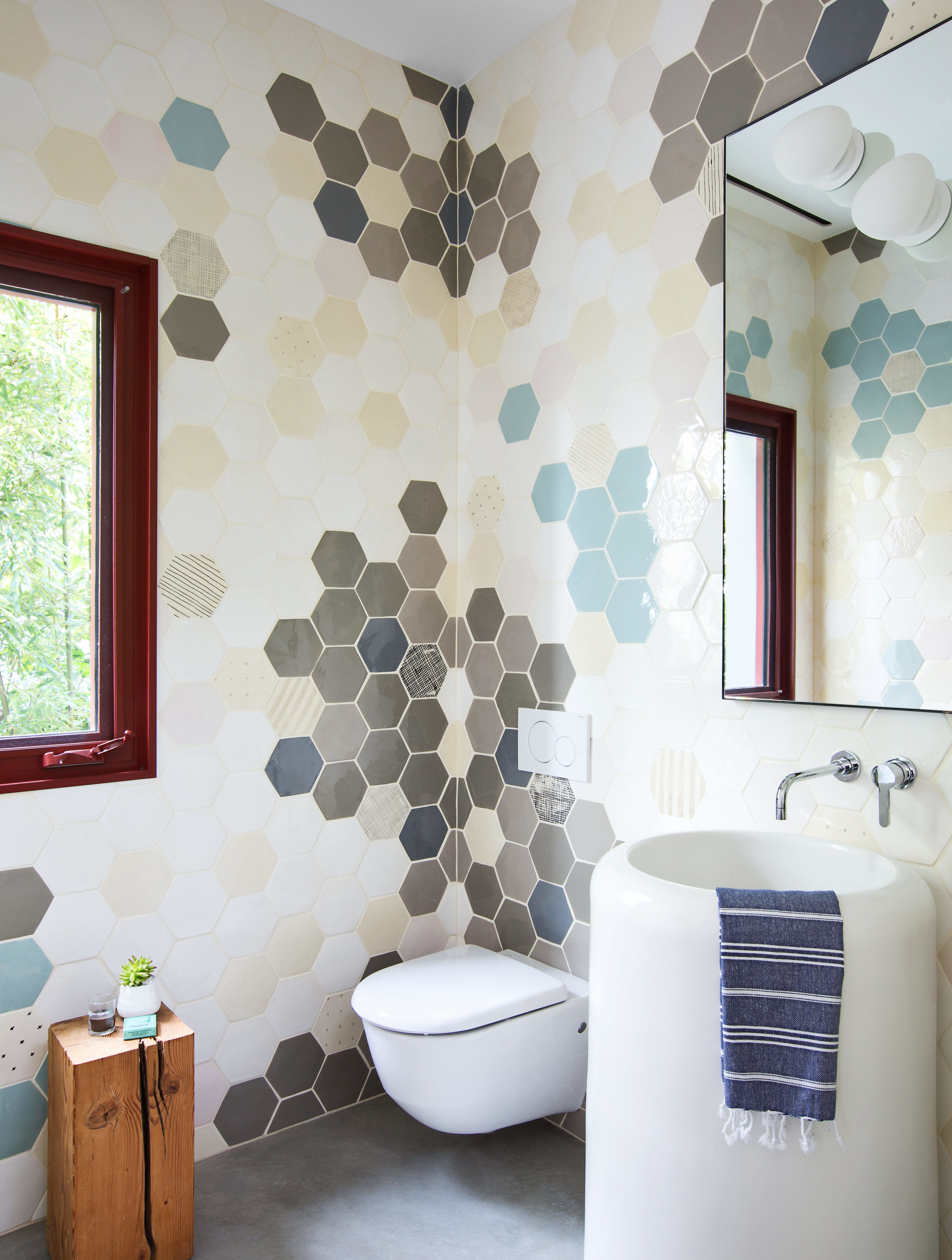 Photo 3 Of 3 In One Home Three Bathrooms Each With An Awesome Way Beautiful Tile Bathroom Decorating Small Spaces Bathroom Furnishings