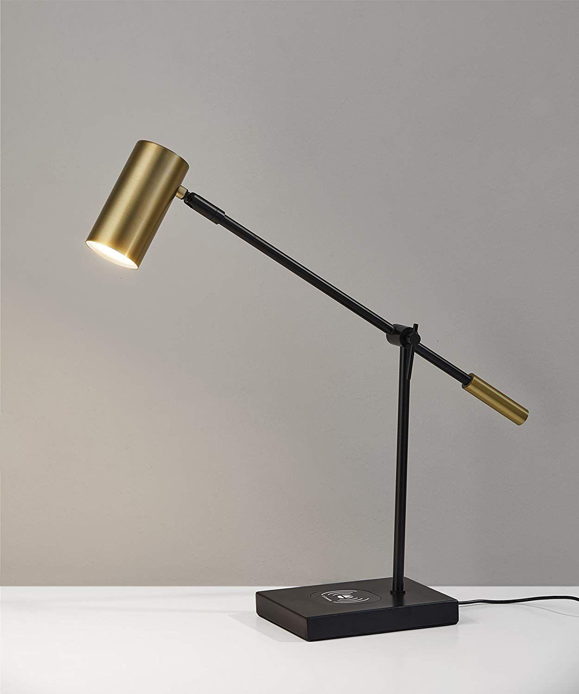 Amazon Com Adesso Collette Charge Led Desk Lamp Silver Home Kitchen Desk Lamp Lamp Led Desk Lamp