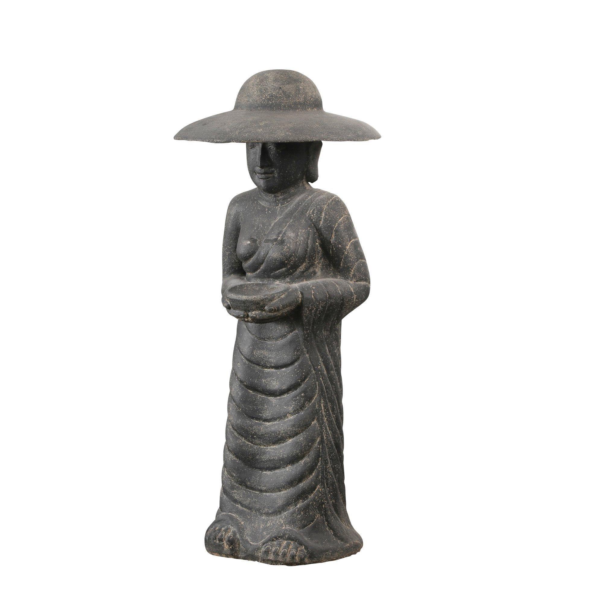 Décoration de jardin statue Fermier Coréen en pierre reconstituée 160 cm